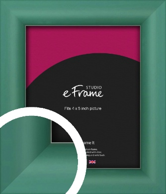 Modern Green Picture Frame, 4x5