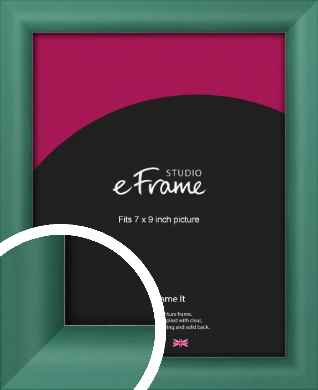 Modern Green Picture Frame, 7x9