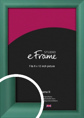 Modern Green Picture Frame, 8x12