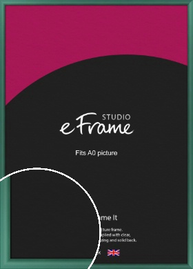 Modern Green Picture Frame, A0 (841x1189mm) (VRMP-A027-A0)