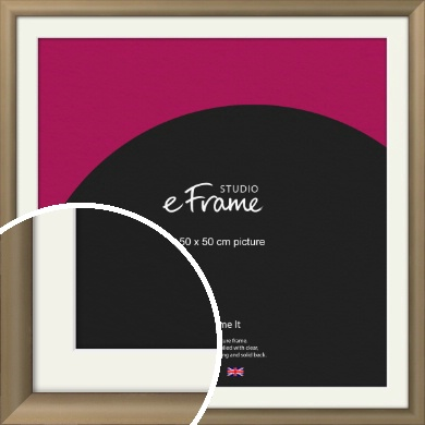 Chic Bronze / Copper Picture Frame & Mount, 50x50cm (VRMP-A028-M-50x50cm)