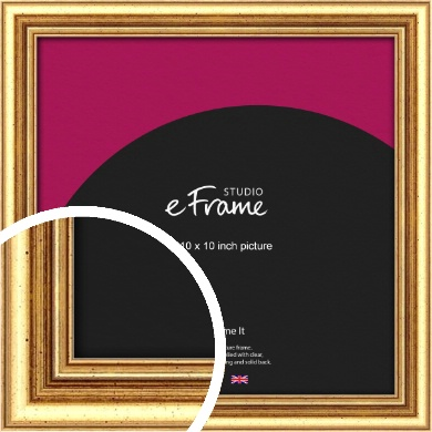 Strong Gold Picture Frame, 10x10