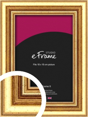 Strong Gold Picture Frame, 10x15cm (4x6
