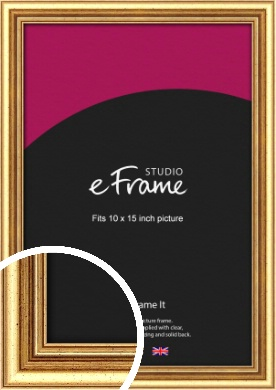 Strong Gold Picture Frame, 10x15