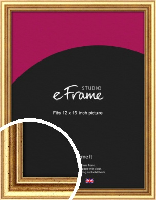 Strong Gold Picture Frame, 12x16