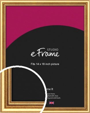 Strong Gold Picture Frame, 14x18