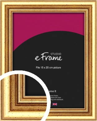 Strong Gold Picture Frame, 15x20cm (6x8