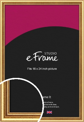Strong Gold Picture Frame, 16x24