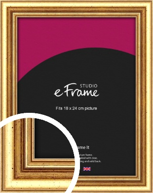 Strong Gold Picture Frame, 18x24cm (VRMP-210-18x24cm)