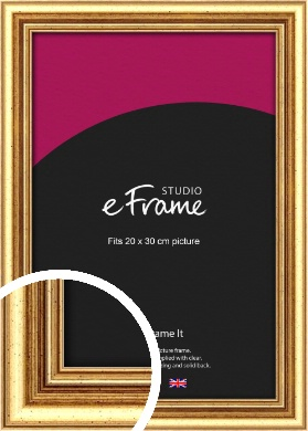 Strong Gold Picture Frame, 20x30cm (8x12