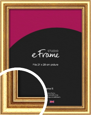 Strong Gold Picture Frame, 21x28cm (VRMP-210-21x28cm)