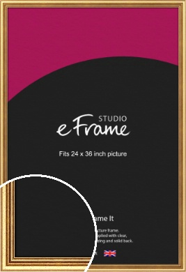 Strong Gold Picture Frame, 24x36