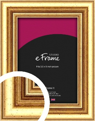 Strong Gold Picture Frame, 3.5x5