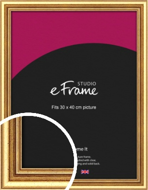 Strong Gold Picture Frame, 30x40cm (VRMP-210-30x40cm)