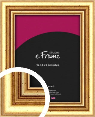 Strong Gold Picture Frame, 4.5x6