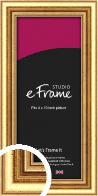 Strong Gold Picture Frame, 4x10