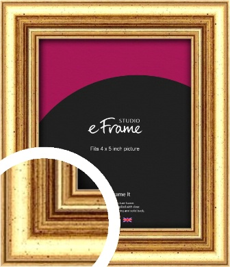Strong Gold Picture Frame, 4x5
