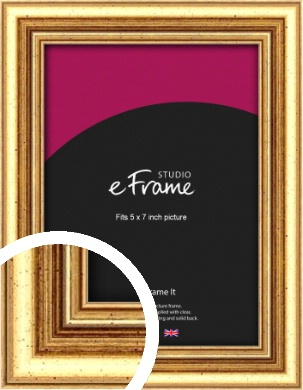 Strong Gold Picture Frame, 5x7