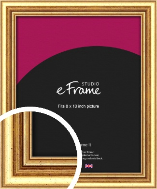 Strong Gold Picture Frame, 8x10