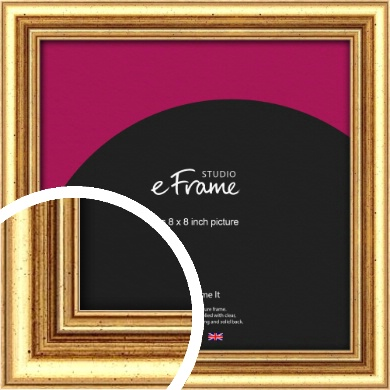 Strong Gold Picture Frame, 8x8