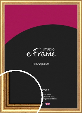 Strong Gold Picture Frame, A2 (420x594mm) (VRMP-210-A2)