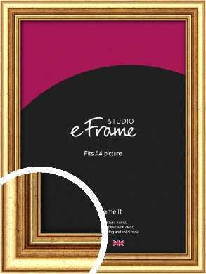 Strong Gold Picture Frame, A4 (210x297mm) (VRMP-210-A4)