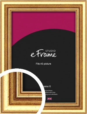 Strong Gold Picture Frame, A5 (148x210mm) (VRMP-210-A5)