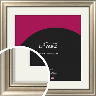 Classic Silver Picture Frame & Mount, 10x10