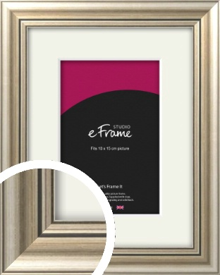 Classic Silver Picture Frame & Mount, 10x15cm (4x6