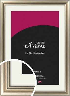 Classic Silver Picture Frame & Mount, 10x15