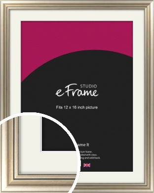 Classic Silver Picture Frame & Mount, 12x16