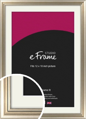 Classic Silver Picture Frame & Mount, 12x18