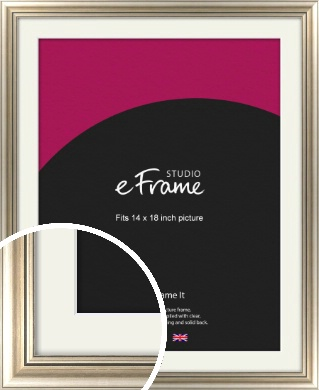 Classic Silver Picture Frame & Mount, 14x18