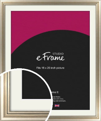 Classic Silver Picture Frame & Mount, 16x20