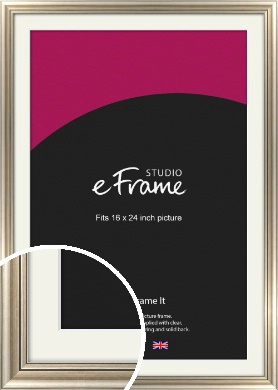 Classic Silver Picture Frame & Mount, 16x24