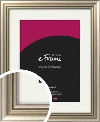 Classic Silver Picture Frame & Mount, 18x24cm (VRMP-211-M-18x24cm)