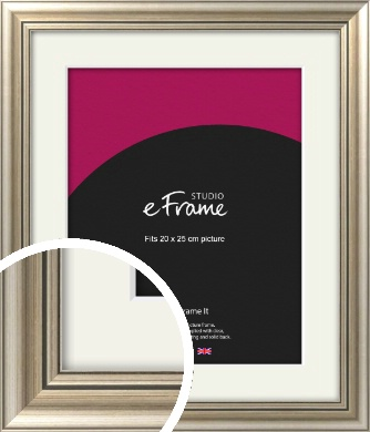 Classic Silver Picture Frame & Mount, 20x25cm (8x10