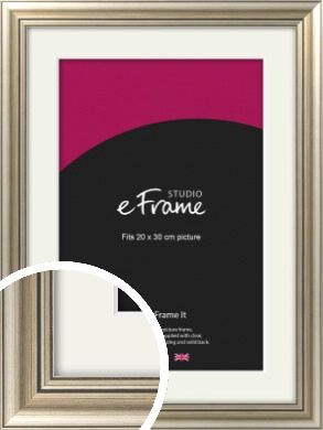 Classic Silver Picture Frame & Mount, 20x30cm (8x12
