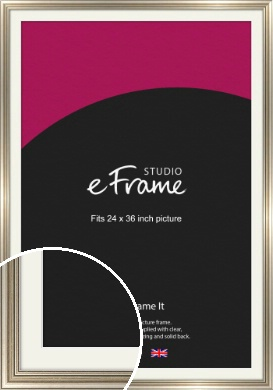 Classic Silver Picture Frame & Mount, 24x36