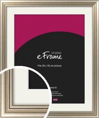 Classic Silver Picture Frame & Mount, 28x35cm (VRMP-211-M-28x35cm)