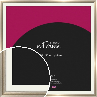Classic Silver Picture Frame & Mount, 30x30