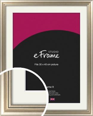 Classic Silver Picture Frame & Mount, 30x40cm (VRMP-211-M-30x40cm)