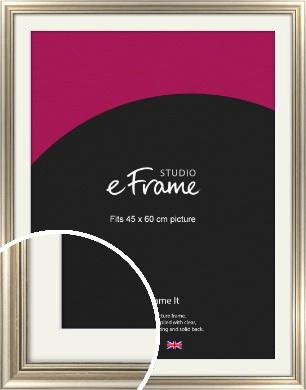 Classic Silver Picture Frame & Mount, 45x60cm (VRMP-211-M-45x60cm)
