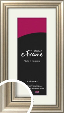 Classic Silver Picture Frame & Mount, 4x10