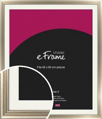 Classic Silver Picture Frame & Mount, 50x60cm (VRMP-211-M-50x60cm)