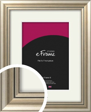 Classic Silver Picture Frame & Mount, 5x7