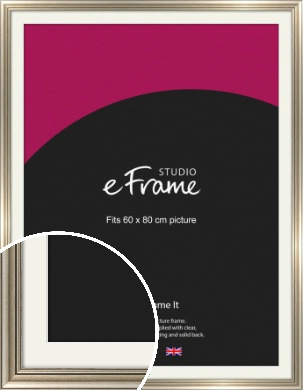 Classic Silver Picture Frame & Mount, 60x80cm (VRMP-211-M-60x80cm)