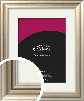 Classic Silver Picture Frame & Mount, 6x8
