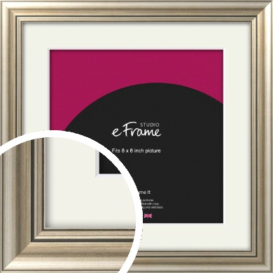 Classic Silver Picture Frame & Mount, 8x8
