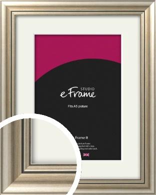 Classic Silver Picture Frame & Mount, A5 (148x210mm) (VRMP-211-M-A5)
